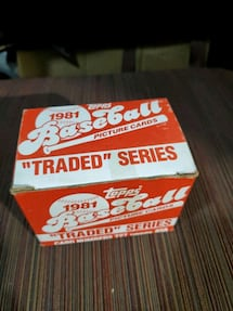 "1981 Topps Baseball ""Traded"" Series"