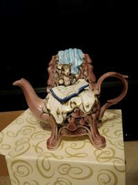 Mouse Teapot Figurine MusicBox Gainesville, 20155