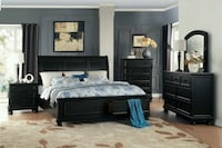 Laurelin Black Storage Platform Sleigh Bedroom Set Houston, 77056