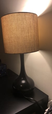 black and brown table lamp 2 for 20$