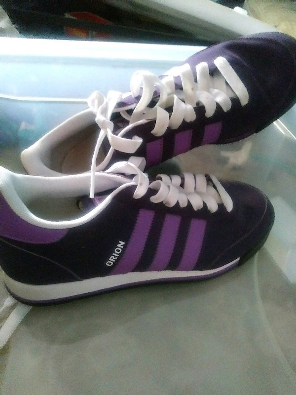 6a987bc5ee1b Used pair of purple-and-white Adidas sneakers for sale in Conyers ...