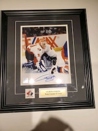 Curtis Joseph signed framed picture Toronto, M2N