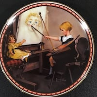 girl painting doll print decorative platet Brentwood Bay, V8M 1A3