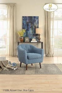 Floor Model! Beautiful, Blue Accent Chair on Clearance Edmonton, T5S 2H1