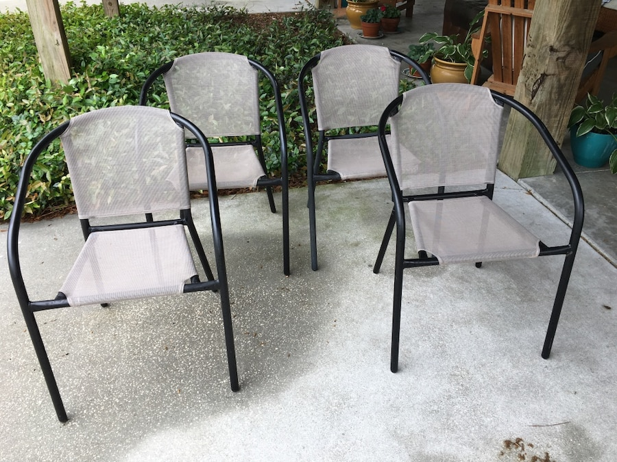 4 Black patio chairs in Myrtle Beach letgo