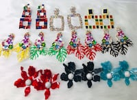 assorted color beaded necklace lot
