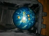 Vintage Bowling Ball with Carry Bag