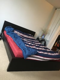 Black Queensize Ikea Bed with dent Vancouver, V6G