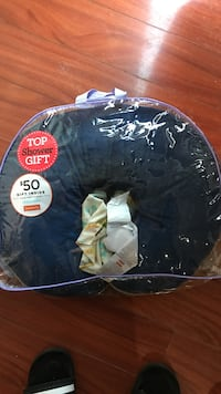 Boppy pillow with 2 covers. Blue and stripes and animals. Carol Stream, 60188
