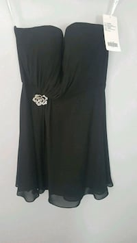 New Black Chiffon Bridesmaid Dress W/ Shoes