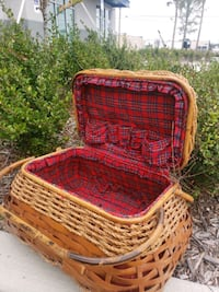 Large lined  sewing basket