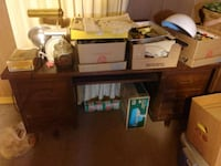 brown wooden desk with hutch Omaha, 68111