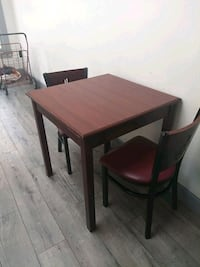 """kitchen table and two chairs 29.5""""x29.5x31""""high"""