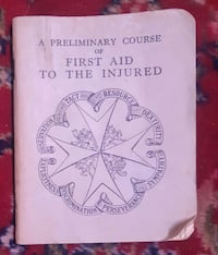 Vintage 1951 first aid to the injured pocket book
