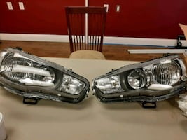2014 Mitsubishi Evo headlights one set Factory OEM
