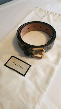 black and gray Gucci belt Surrey, V3W