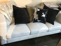 Living room set white leather couch love seat and chair Edmonton, T5J 1H8