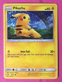 Pikachu hologram card, brand new out of the package. Perfect condition!!! Anaheim, 92804