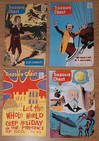 Comics-Vintage 1966 Vol. 22- Treasure Chest-9 issues Stratford