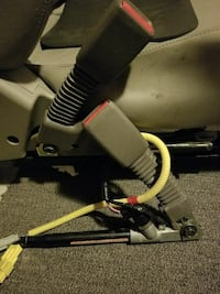 grey and red seat belt lock