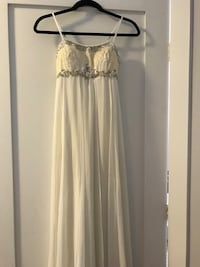 White beaded Grecian dress