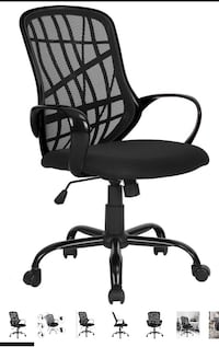 GreenForest Office Chair Mesh Mid-Back Swivel with Special Design Back,Black