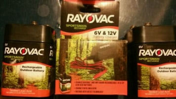 Rayovac 6v battery charger &battery