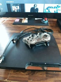 BLACK PS3 W/3 GAMES
