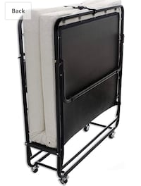 Folding bed on wheels, mattress including