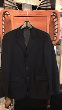 Black notched lapel suit jacket Montréal, H9H