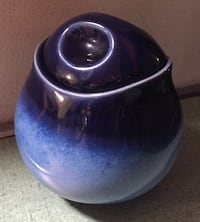 Nova Blue Sugar Bowl with Lid by Sango Rockville, 20853
