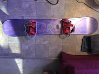 Purple and red snowboard with binding s Edmonton, T5Y