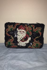 Vintage RARE Christmas sequence change purse 1950's Frederick, 21703