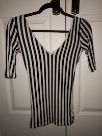 women's black and white striped blouse Mississauga, L5R