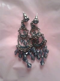 Navy Blue Chandalere Earrings  Blaine, 55449