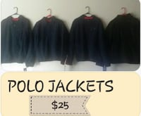 Black Polo  full zip jackets Milwaukee