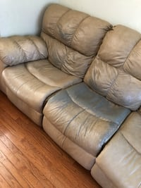 brown leather 3-seat sofa Woodbridge, 22192