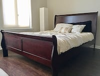 New Cherry Queen Sleigh Bed  Silver Spring