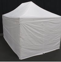King canopy 10'x10' festival tent, side walls, sandbags & red tent cover 571 mi