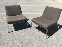 Pair of modern lounge chairs - Keilhauer Toronto, M2J 2Z6