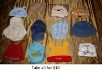0-3 Mths Baby Boy Hats Lot 1 (Take 12 Pieces for $10) Mississauga