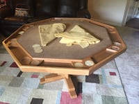 Solid wood 8 person poker table Baltimore, 21236
