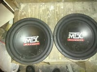 A pair of MTX 12 inch subwoofers Baltimore, 21215