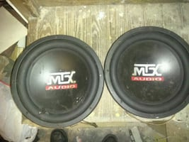 A pair of MTX 12 inch subwoofers