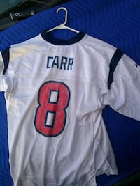 white and black Carr 8 jersey shirt New Waverly, 77358