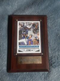 Calvin Johnson Jr. Detroit Lions football player photo with brown frame