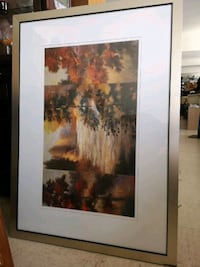 painting of trees with brown wooden frame Pelham, L0S 1E0