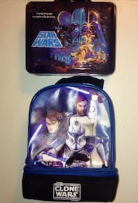 Star Wars Metal Lunch Pail and Cooler Bag Combo