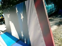 Large patriotic wall decor 10foot by 4 foot Wichita, 67203
