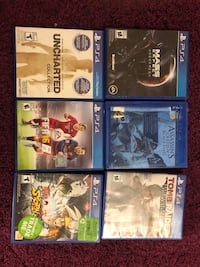 Six ps4 game for $30, or 1 for $6 Toronto, M2N 0H1